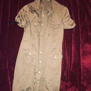 Army Green Utility style dress